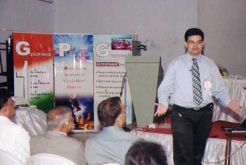 Speaking at a medical awareness forum